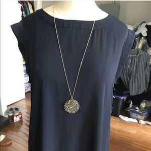 Anthropologie round crystal necklace